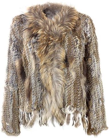 Gloop Dames vest echt bont jas mantel konijntje hazenbont nr 2