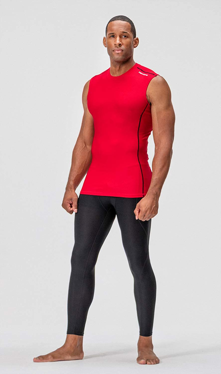 DEVOPS Mens 2~3 Pack Cool Dry Athletic Compression Baselayer Workout Sleeveless Shirts