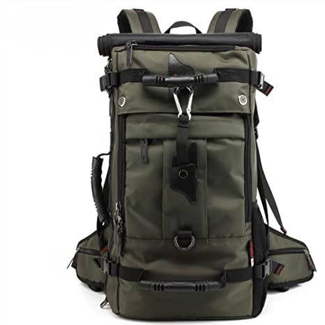 5d7f3d0f69bf Amazon.com  SUNWIN Large Travel Backpack Latop Bag Knapsack 40L Hiking  Camping Bag Waterproof BackpackFor 17 Inch Laptop (Army Green)  Sports    Outdoors