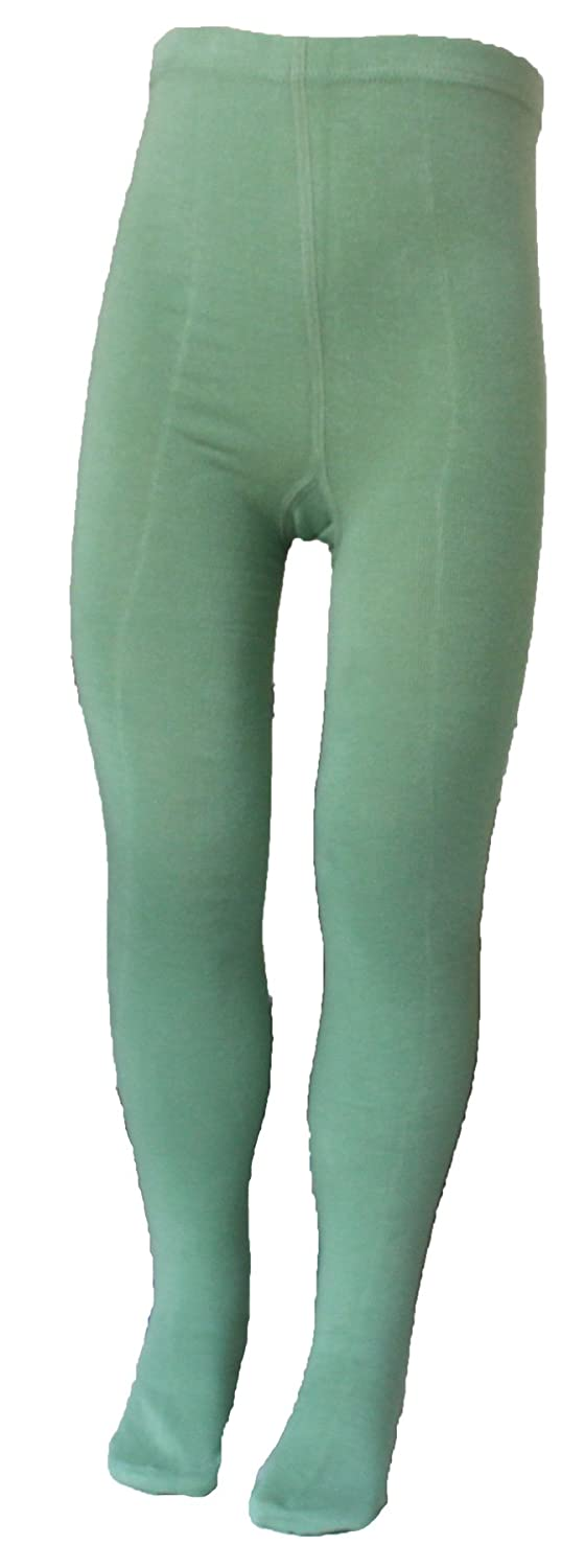 CHUNG Toddler Little Girls Cotton Footed Tights Solid Color 2-7Y
