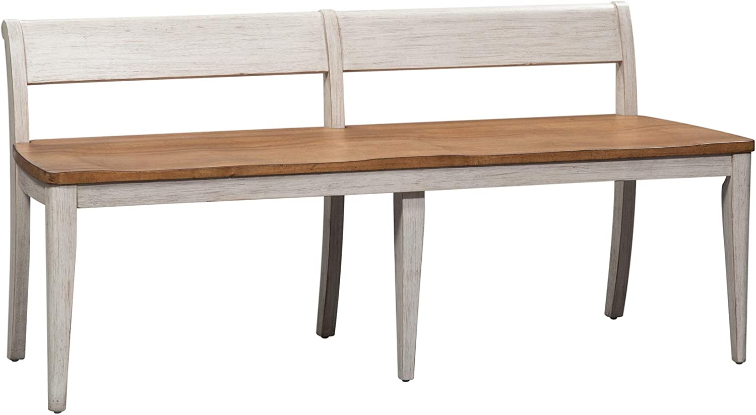 Liberty Furniture Industries Farmhouse Reimagined Bench, W61 x D22 x H28, White