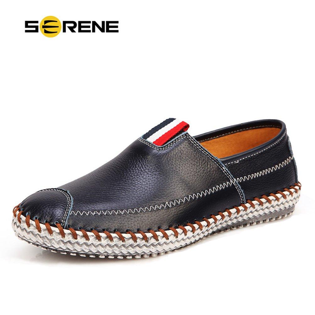 Serene Hombres Loafers Drivers Zapatos Verano Casual Cuero Penny Mocasines para los Hombres - Perforado, Opciones Suaves: Amazon.es: Zapatos y complementos