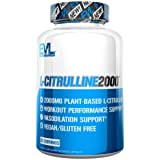 Evlution Nutrition L-Citrulline2000, Ultra-Pure Plant-Based Citrulline Supplement, Nitric Oxide, Pumps, Muscle Endurance and Vascularity, Powerful Workout Booster, Capsules (30 Servings)
