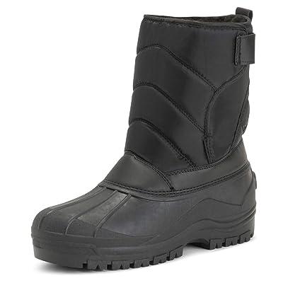 Polar Mens Muck Nylon Strap Lace Up Duck Snow Winter Flat Rain Outdoor Boots | Boots