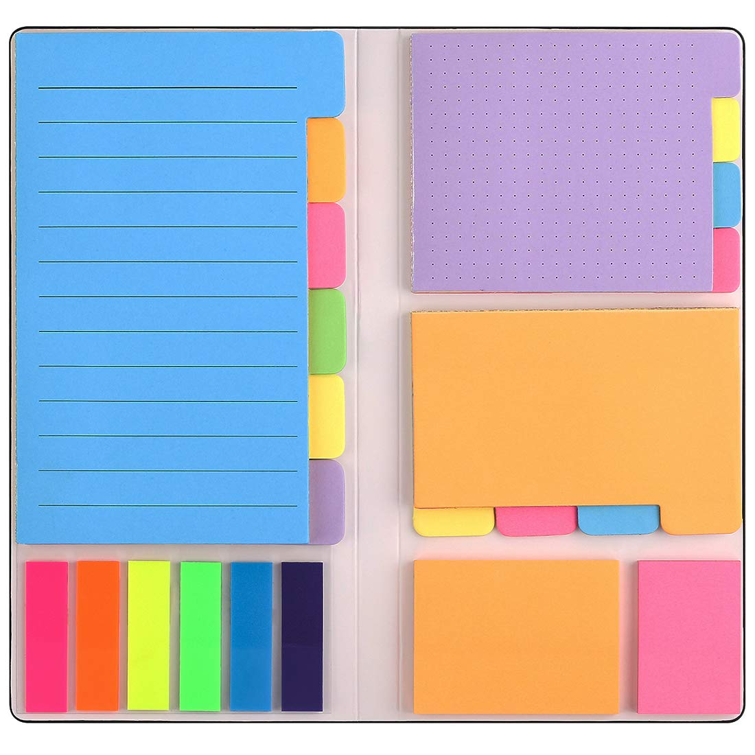 Sticky Notes Set with Bookmark Index for Planner