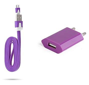 Cable Noodle 1 m Cargador + Enchufe para LG Stylus 2 Smartphone ...