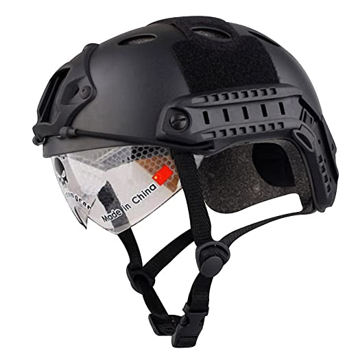 8 opinioni per Haibei Tactical veloce Casco Military Tactical Helmet all'aperto CS Airsoft
