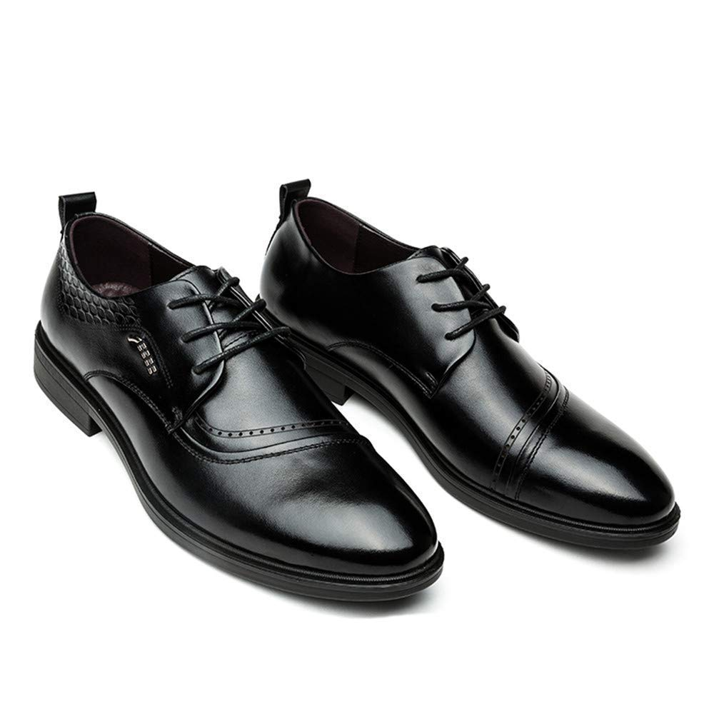 FuweiEncore Zapatos Formales Formales Formales de Cuero para Hombres cómodos británicos, cómodos, británicos, 2018 (Color: Negro, tamaño: 40 UE) (Color : Negro, tamaño : 39 EU) 96c245