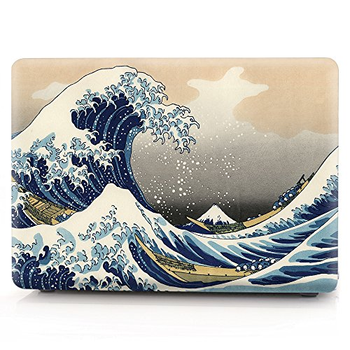 HRH Sea Waves Laptop Body Shell Protective Hard Case for Apple Macbook Air 11