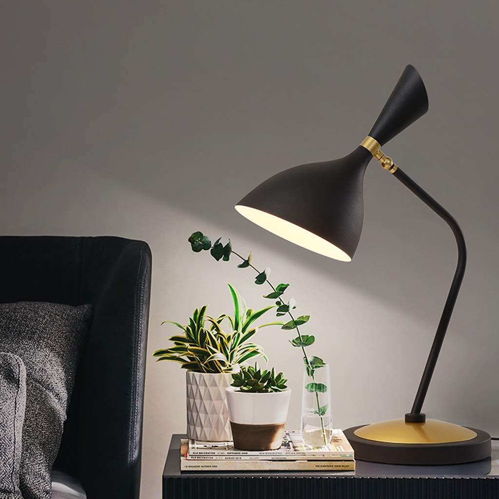 Nordische Nachttischlampe Retro Amerikanische Amerikanische Amerikanische Minimalistische Kreative Schreibtischlampe Schmiedeeisen Wohnzimmer Beleuchtung (Farbe   schwarz) 344df1