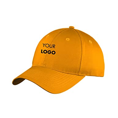 3db8a98f7 Custom Embroidered Port & Company Six-Panel Unstructured Twill Cap ...