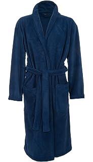 e11b6273e93 John Christian - Robe de chambre luxueuse en polaire - Marine - Homme