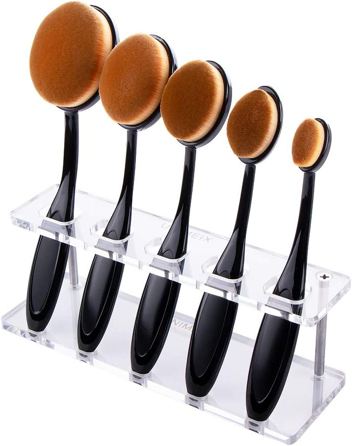 UNIMEIX Crafting Ink Blending Brush Set 5 pcs Color Blending Paper Crafter Blenders ,Ink Blending Brushes with Stand