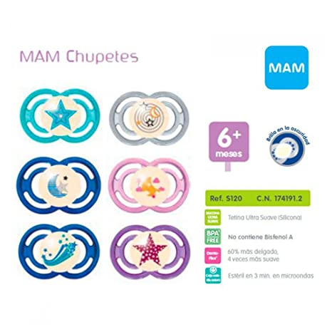 MAM Chupete Silicona Perfect Night 6-16 Meses: Amazon.es: Salud y ...