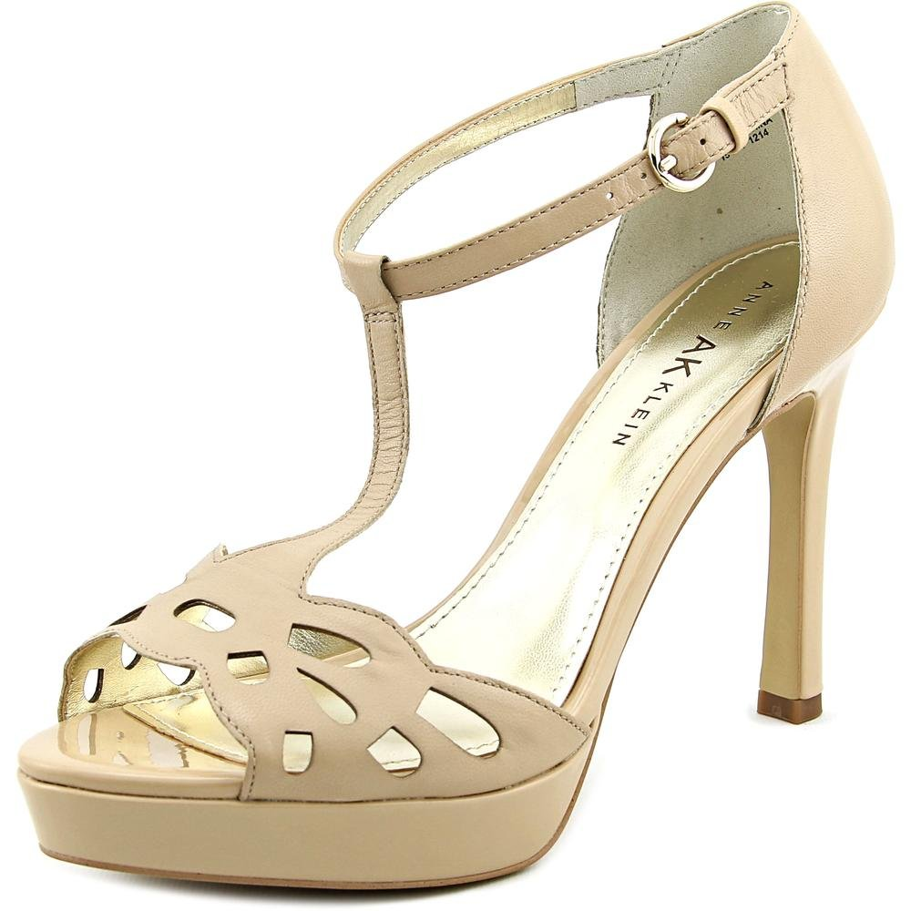 62feccc818a3 Anne Klein Womens Sultry Leather Open Toe Casual Ankle