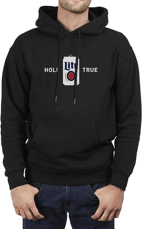 Mens Fun Long Sleeve Hoodies Home of The Original Lite Beer Miller Lite Sweatshirt