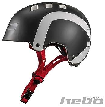 HEBO Wheelie 1.0 Casco, Negro, 50-56 cm