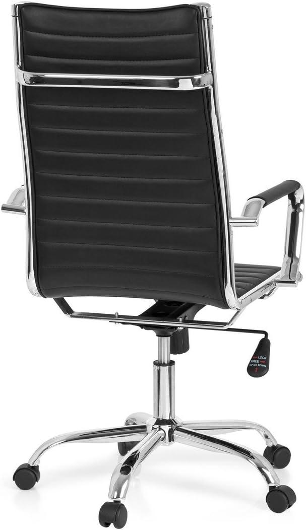 hjh Office 660940 Vemona Siège de Bureau Chrome/Noir