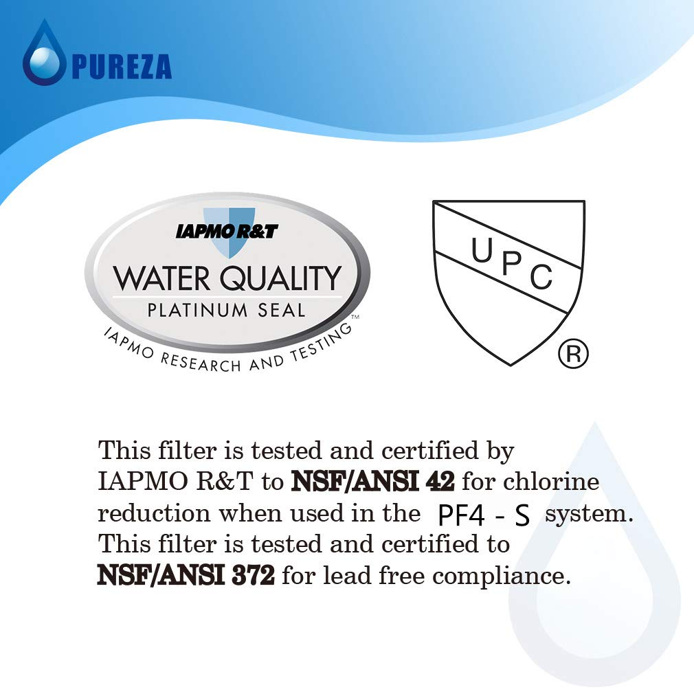 Pureza WF3CB Water Filter - Compatible with WF3CB, Pure Source 3 Refrigerator Water Filter, Pack of 3 by Pureza filters (Image #6)