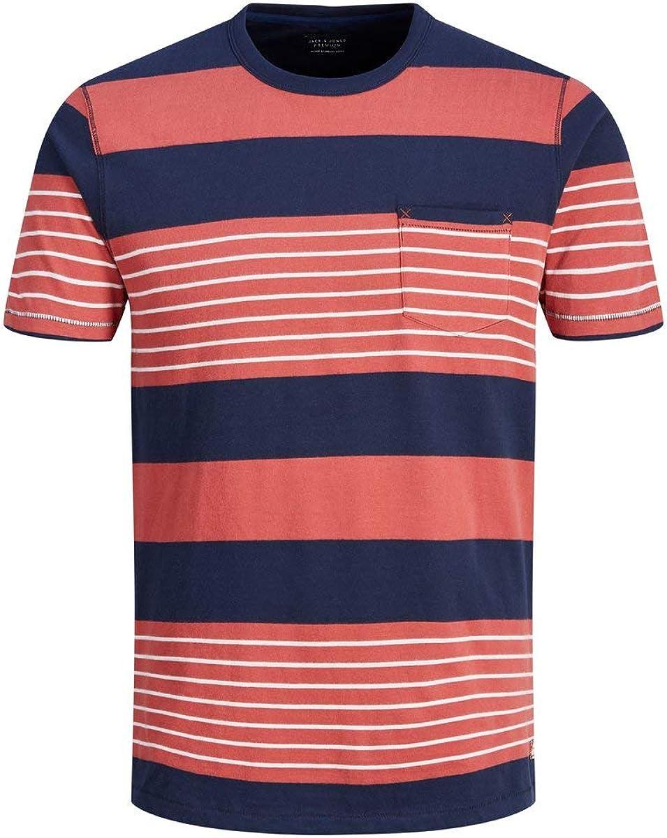 Jack & Jones Jprclyde BLU. tee SS Crew Neck Camiseta para Hombre