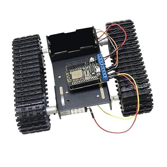 SM SunniMix Modelo Chasis Robot Coche Arduino con Orugas + Wireless Mando a Distancia: Amazon.es: Juguetes y juegos