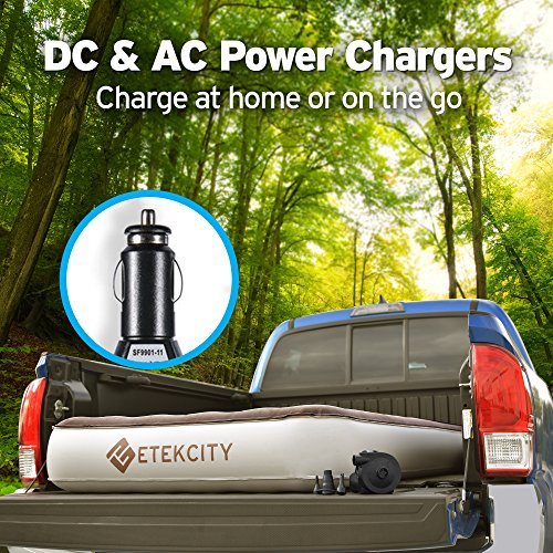 Etekcity Camping Air Mattress Inflatable Single High Airbed Blow up Bed Tent Mattress with Rechargeable Air Pump, Height 9'', Queen Size by Etekcity (Image #3)