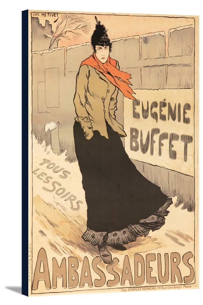 Eugenie Buffet – Ambassadeursヴィンテージポスター(アーティスト: Metivet、Lucien )フランスC。1893 23 7/8 x 36 Gallery Canvas LANT-3P-SC-64891-24x36 23 7/8 x 36 Gallery Canvas  B0184AUPP2