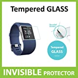 Fitbit Surge Tempered Glass INVISIBLE Screen Protector FRONT Shield Scratch Proof Protection Exclusive to ACE CASE