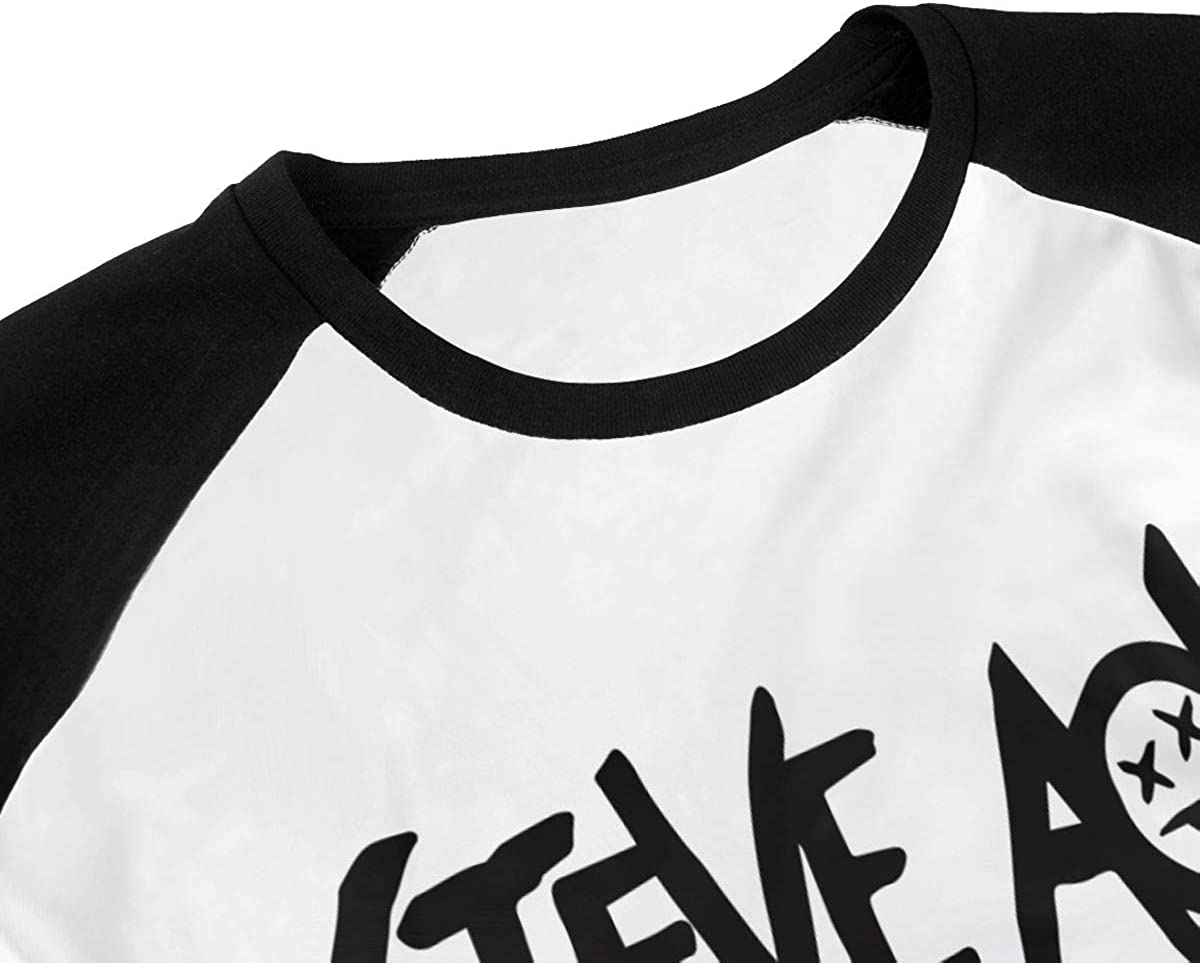 Kangtians Boys Steve Aoki T-Shirt Childrens3//4 Sleeve Raglan Baseball Shirt