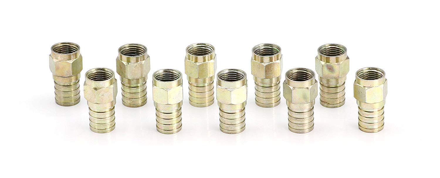 for Easy Installation for RG6 Coax Cable Coaxial Crimp Type Fitting//Connector 50 Pack THE CIMPLE CO
