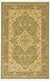 Unique Loom Edinburgh Collection Oriental Traditional French Country Light Green Area Rug (3′ x 5′)