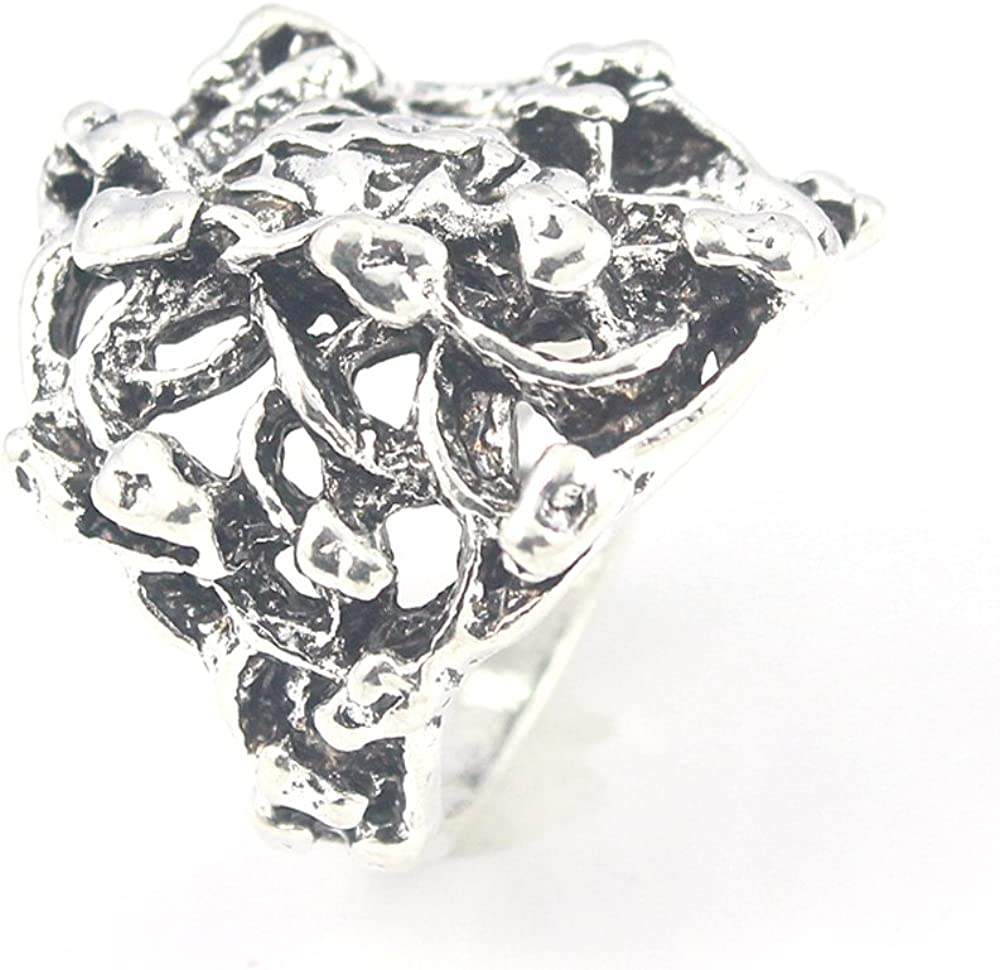 silverjewelgems Skull Plain Fashion Jewelry .925 Silver Plated Ring 8 S23523
