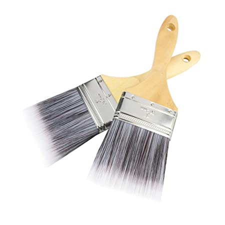Andux Land Paint Brush 3inch Painting Brushes 2pcs For