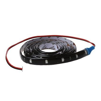 SODIAL(R) 120CM 60 SMD Tira de Luz LED Neon Flexible Impermeable para Coche - Azul: Amazon.es: Hogar