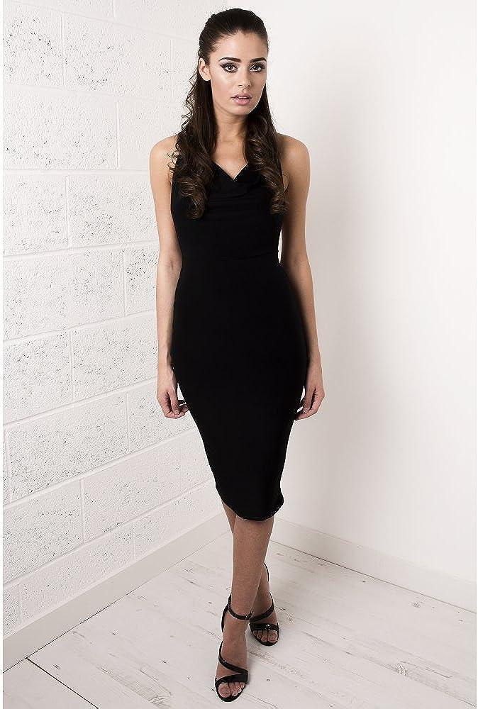 Miss Foxy Womens Black Draped Cross Strapped Dress 8 Black