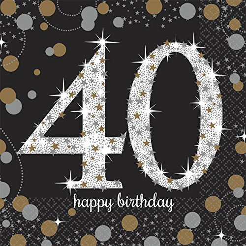 Sparkling Celebration 40 Beverage Paper (40th Birthday Plates)