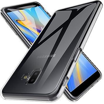 LK Funda para Samsung Galaxy J6+ / J6 Plus 2018, Carcasa Cubierta TPU Silicona Goma Suave Case Cover Play Fino Anti-Arañazos - Clara