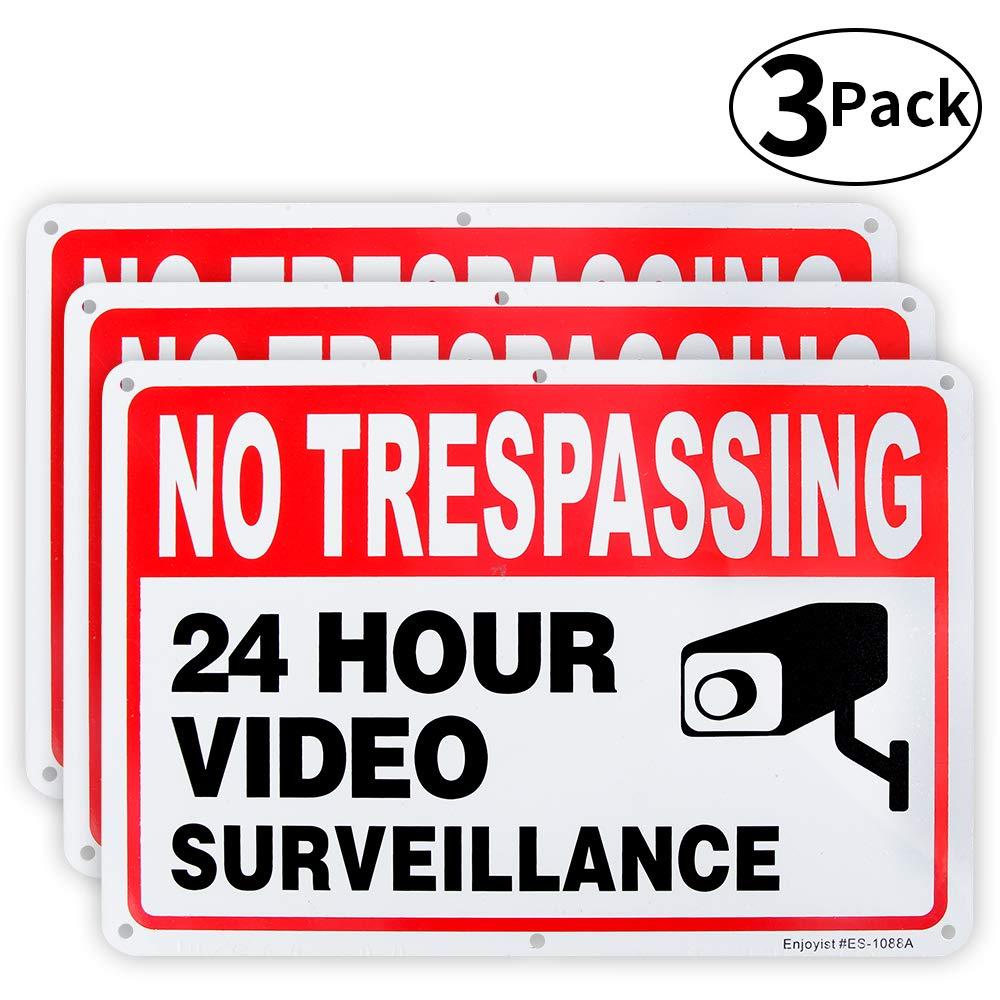 Amazon.com: Paquete de 3 señales de vigilancia de vídeo, no ...