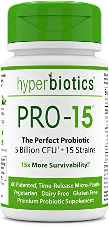 Hyperbiotics PRO-15 Probiotics For Women, Probiotics for Men, Patented Delivery System, 15x More Survivability Than Capsules, With Prebiotic, 60 Tablets