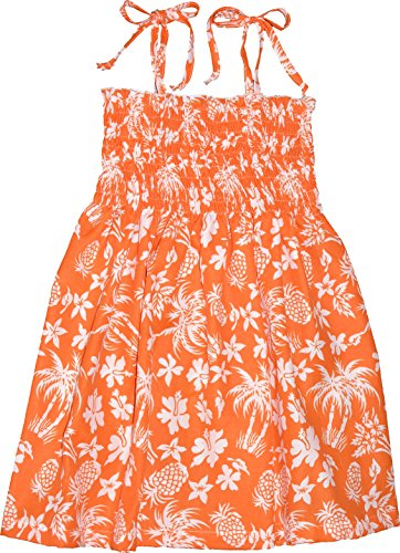 RJC Girls Pineapple Spree Elastic Tube Dress ORANGE 6 by RJC