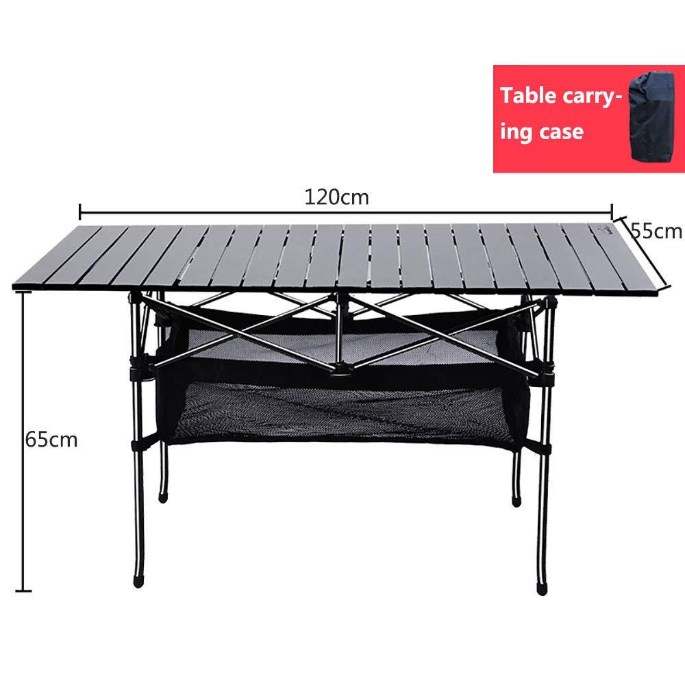 ANFAY Mesa de Camping Mesa rodante 120 * 55 * 65 cm Mesa ...