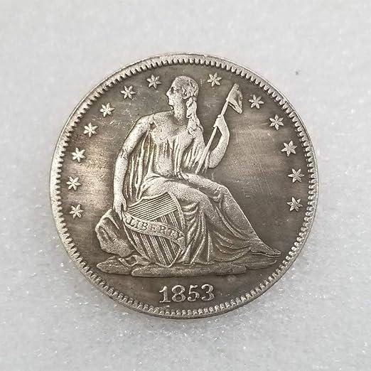 YunBest 1853 Moneda de Medio dólar de la Libertad Antigua – Moneda ...