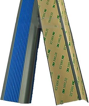 Perfil de transición Tira antideslizante para escaleras Tira de piso Cinta antideslizante Cinta impermeable Guardería Paso Alfombra antideslizante Protector de esquina de goma Tira anticolisión: Amazon.es: Bricolaje y herramientas