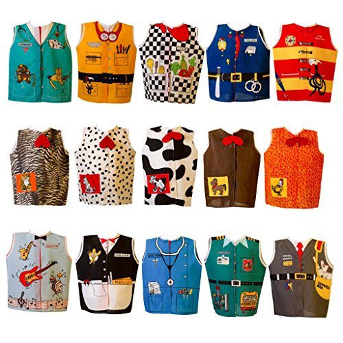 Dexter Educational Play Career and Animal Dress Ups Set of 15 Role Play Costumes (Age 2-4 Yrs) ()