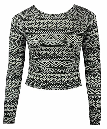 FK Styles - Camiseta de manga larga - para mujer Imprimir Azteca