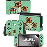 "Controller Gear Aunthentic & Officially Licensed Animal Crossing: New Horizon - ""Tom Nook & Team"" Nintendo Switch Skin…"