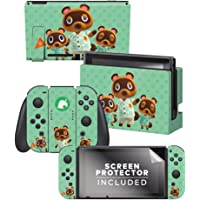 """Controller Gear Aunthentic & Officially Licensed Animal Crossing: New Horizon - """"Tom Nook & Team"""" Nintendo Switch Skin…"""
