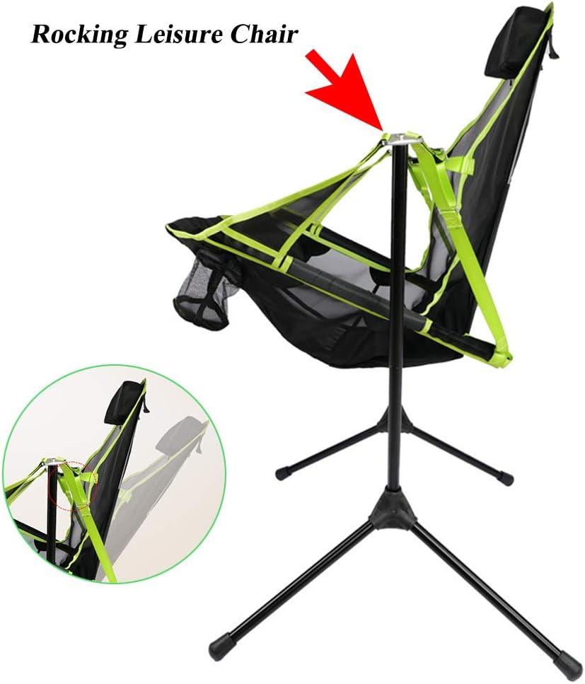 TZTED Chaise de Camping Pliante Bascule, Chaise d'Extérieur Légère et Portable Compacte, Ultra Légère Chaise de Plage Pliable pour la Randonnée, Le Camping Black