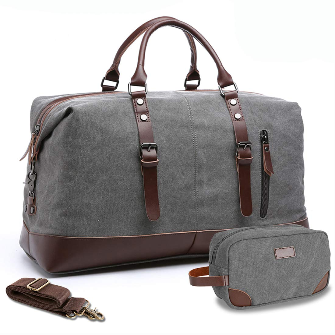 MEWAY Travel Overnight Bag Canvas Duffle Bag Oversized Luggage Bag Large Handbag for Men Women