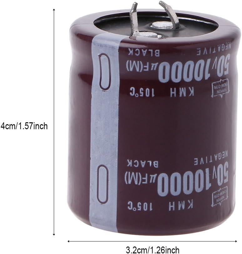 Sara-u 10000uF 50V 105/°C Power Electrolytic Capacitor Snap Fit Snap In
